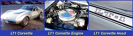 1970 LT1 Corvette and LT1 Corvette Engine