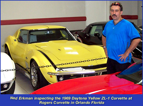 1969 Daytona Yellow ZL1 Corvette